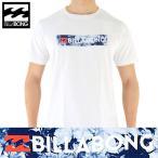 BILLABONG(ビラボン) ボックスロゴ Tシャツ 白x柄 「AH011-201 TRI」 USAコットン ホワイト UNITY BOX LOGO S/S Tee