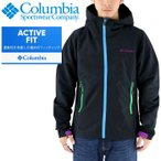 コロンビア マウンテンパーカー黒 アウトドアジャケット アウトドア向け COLUMBIA ジャケット パーカー 軽量 メンズ ナイロンジャケット COLUMBIA コロンビア