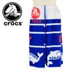 ショッピングラップタオル CROCS クロックス ラップタオル ビーチタオル 巻きタオル 海水浴 プール ロールタオル バスタオル