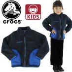 クロックス 子供用フリース ネイビー 紺 フリース ジャンバー 110-160cm ガール ボーイズ crocs 147270