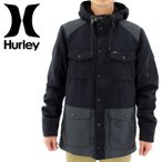 「セール」ハーレー メンズジャケット HURLEY ミリタリージャケット 黒ブラック BLACK サーフブランド マウンテンパーカー マンパー モッズコート 通販 販売