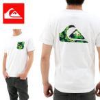 QUIKSILVER(クイックシルバー) ポケットTシャツ 白 ボタニカル柄 (QST161600Y WHT2)バックプリント 花柄 セール品 SALE お買い得 アウトレット OUTLET