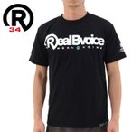 リアルビーボイス スポーツTシャツ RealBvoice ドライTシャツ 半袖 半そで tシャツ ラッシュガード スイムウエア 大きいサイズ 小さいサイズ 黒色 ブラック