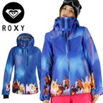 ロキシー レディーススノージャケット ボードウェア ROXY 女もの ERJTJ03088 青 ブルー 上着 水中デザイン 通販 販売 即納 人気 スノーボードジャケット