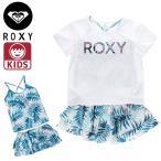 ロキシー 水着 キッズ セパレート Tシャツ MINI LEAF WAVE 3点セット タンキニ ジュニア ROXY TSW202101