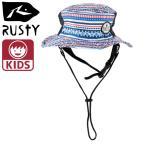「RUSTY/ラスティ」キッズ ビーチハット SURF HAT 帽子 マリンハット サーフブランド 967905