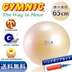 ギムニク フィットボール 65cm パール色 バランスボール+ダブルアクションポンプ セット