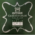 ショッピングPREMIUM Goldbrokat Premium Steel 二本set Violin用 E線 (Ball or Loop)(0.26 or 027) 4/4楽器用【g/b ps 2pc.】