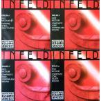 Violin弦 Infeld Red インフェルド 赤     E線 : Ball End Loop End 兼用    EADG線 4弦セット