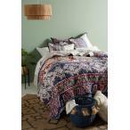 Anthropologie/アンソロポロジー ボヘミアン風デザイン キルトカバー ベッドカバー ツインサイズ