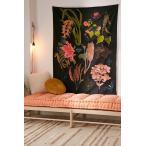 Urban Outfitters/アーバンアウトフィッターズ Botanical Chart Tapestry タペストリー ブラック