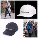 国内即納 BALENCIAGA/バレンシアガ BASEBALL CAP ロゴキャップ ホワイト ブラック メンズ レディース
