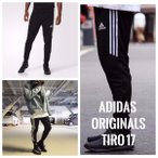 即納サイズあり Adidas/アディダス TIRO17 スキニートレーニングジャージ ジョガーパンツ メンズ ブラック