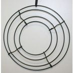 ワイヤーリース ワイヤーフレーム 20cm 手作りのフラワーリースの土台に 資材