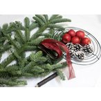 モミの木と姫リンゴの クリスマスリースキット  生花 切花 資材