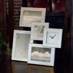 フォトフレーム クロックフレーム 写真立て 時計