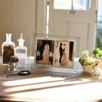ガラスフォトフレーム(2オープン) 写真立て 結婚祝い