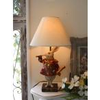 アリスラビットの卓上ランプ・テーブルランプ 25W ウサギのランプ 置物 輸入雑貨 シャビーシック アンティーク風 フレンチカントリー