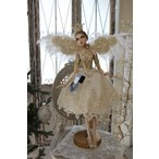 クリスマスオーナメント♪ (クラウンフェアリー・スタンド) 妖精 ドール 人形 置物 シャビーシック フレンチ ロマンティック 可愛い クリスマス飾