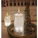 クリスマス置物 (アクリルライトキャンドルL LED8092)アンティーク風 シャビーシック 北欧 フレンチ ロマンティック 可愛い クリスマス飾り