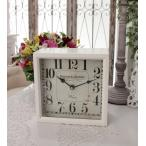 PARISボックスクロック 置時計 掛時計 クォーツ時計 白色 シャビーシック フレンチカントリー アンティーク 雑貨 アンティーク風 姫系 antique