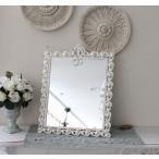 アンティーク風・雑貨 (ジュエルミラー002) 卓上ミラー 壁掛けミラー 鏡 可愛い  シャビーシック  フレンチカントリー アンティーク 雑貨 姫系 輸入雑貨 a