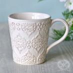 アンティーク 食器 雑貨 アンティーク風 (ホワイトトリアノン) マグカップ マグ 白い食器 カフェ食器 陶器 姫系 フレンチカントリー french chicシリーズ かわ