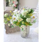 可憐なデージーブーケ ナチュラル 造花 可愛い ホワイト イエロー シルクフラワー アーティフィシャルフラワー インテリアフラワー ブーケ 花束