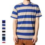 ショッピングカットソー カットソー Tシャツ ビッグシルエット ボーダー クルーネック メンズ