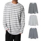 ショッピングカットソー カットソー Tシャツ ボーダー柄 ロンT 長袖 クルーネック 丸首 消臭加工 トップス メンズ トップス