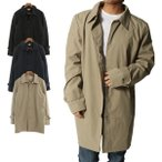 コート ステンカラーコート ストレッチ 防風 ハーフコート 無地 シンプル ビジネス アウター メンズ