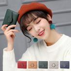 財布 ウォレットケース 折りたたみ財布 二つ折り財布 ミニ財布 コインケース PUレザー 合皮 小物 レディース