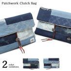 クラッチバッグ デニム セカンドバッグ ハンドバッグ パッチワーク クラッチ A4 小物 鞄 バッグ メンズ
