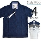 ポロシャツ 半袖 カジュアルシャツ ボタニカル柄 ネイティブ柄 エスニック プリント トップス メンズ トップス