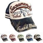 キャップ メッシュキャップ 帽子 刺繍 厚盛刺繍 ロゴ ダメージ加工 アメカジ 帽子 メンズ