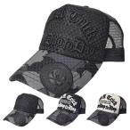 キャップ メッシュキャップ パナマ織り 刺繍 ロゴ 英字 アメカジ ワッペン付き 帽子 小物 メンズ