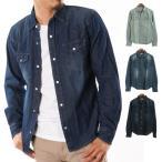 シャツ ウエスタンシャツ デニムシャツ 6.5オンスデニム 綿100% コットン カジュアルシャツ トップス メンズ