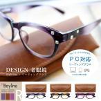 老眼鏡 おしゃれ 男女兼用 PC機能 リーディンググラス スクエアストーン付 ウェリントン 持ち運びケース付き 度数 1.0 1.5 2.0 2.5 3.0 Bayline ベイライン