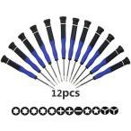 精密ドライバーセット トルクスドライバー T3 T4 T5 T6 T8 星型 Y型 プラス マイナス 特殊ドライバー ヘクスローブ  液晶画面交換 交換用 磁気付き 修理 12本