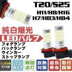 送料無料「夜を一掃」360°全面発光 LED 144個LEDチップ LEDフォグランプ 2点set 純白光 LEDストップランプ LEDバックランプ H16/H7/H8/H11/HB3/HB4/T20/S25