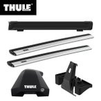 THULE(スーリー) ハスラー専用ベースキャリア(フット753+スクエアバー761+キット4040)+ルーフボックス レンジャー90