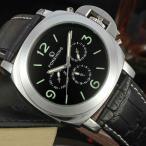 ショッピング自動巻き 5月中旬入荷 予約 自動巻き 腕時計 メンズ 送料無料 1年保証 マルチカレンダー機能付き 44mm フェイス 自動巻き 腕時計 BOX 保証書付 0515