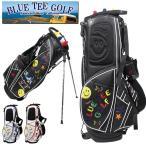 ショッピングキャディバッグ 2018年 新作 BLUE TEE GOLF ブルーティーゴルフ  スマイル & スター カート スタンド 9インチ キャディバッグ