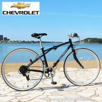 CHEVROLET  シボレー 折りたたみ 自転車 700c  シマノ製 6段変速ギア  クロスバイ...