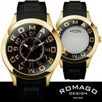 腕時計 メンズ レディース ブランド 1年保証   EXILE MATSU 着用  正規 ROMAGO ロマゴ ATTRACTION ミラー文字盤 腕時計 BOX付