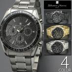 電波ソーラー腕時計 5気圧防水 クロノグラフ 送料無料 1年保証 正規 全4色 Salvatore Marra サルバトーレ マーラ 電波 ソーラー 腕時計 BOX 保証書付き 0426