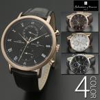 腕時計 メンズ 5気圧防水 マルチカレンダー 送料無料 全4色 1年保証 正規 Salvatore Marra マルチファンクション 腕時計 BOX 保証書付き 0426