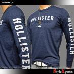 ホリスター Hollister 袖ロゴ ロンT メンズ