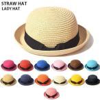麦わら帽子 カンカン帽 レディース 新作 UV 夏 日焼け