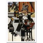 ファングリス カフェの男性 ジクレーポスター B4 (364ミリ×257ミリ)